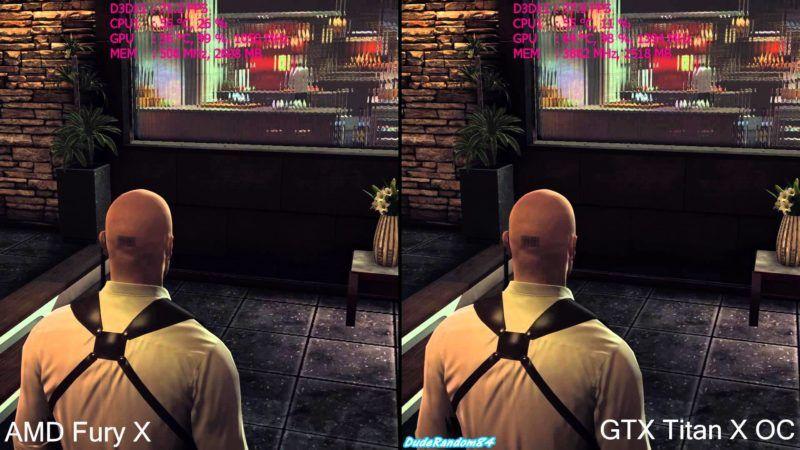 amd fury x vs gtx titan oc frame rate