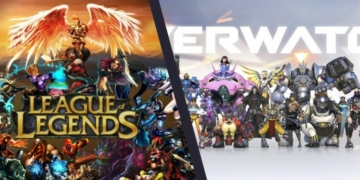 league of legends and overwatch wallpaper