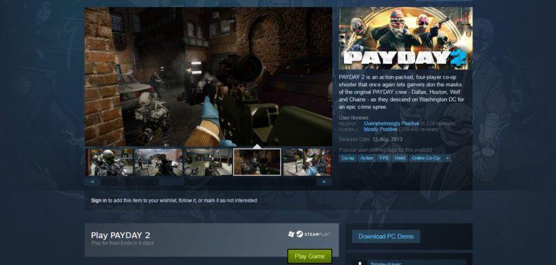 payday 2 on steam summer sale 2016 gamedaim.com