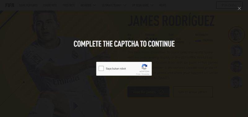 captcha fifa 17 vote cover player gamedaim.com
