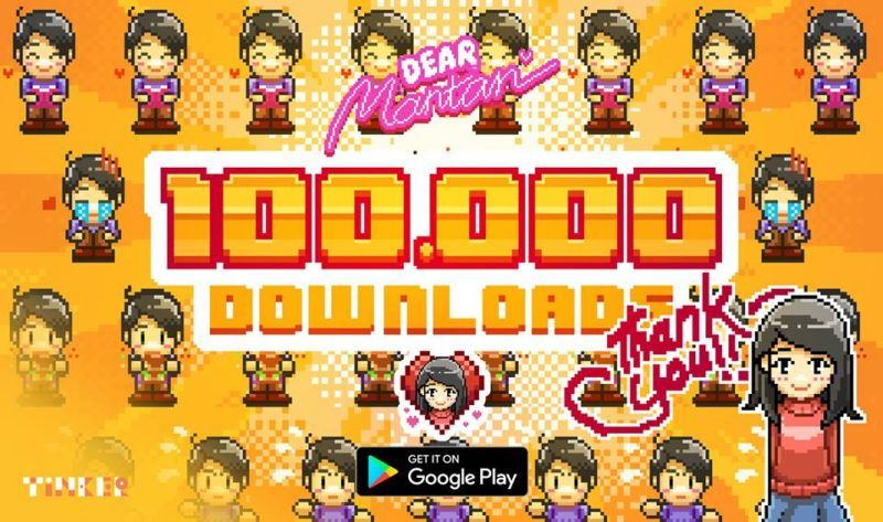 100k download dear mantan