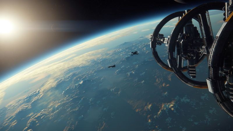 Screenshot dari Star Citizen
