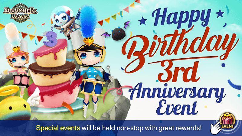 Event 3rd Anniversary Summoners War