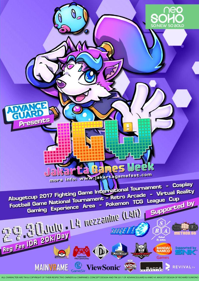 Poster Jakarta Games Week 2017