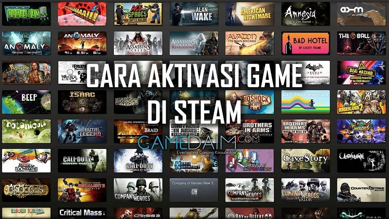Cara Aktivasi game steam