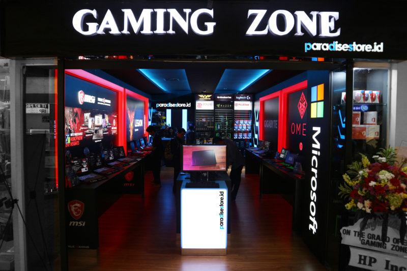 Toko Gaming Zone milik Paradise Store yang berlokasi di Mall Mangga Dua Lantai 1, Jakarta Utara