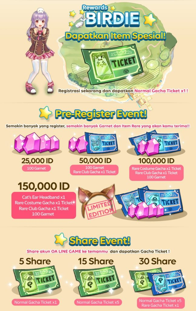 LINE Indonesia Pangya Mobile Event