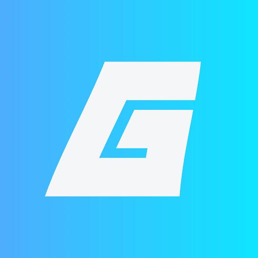 GAMEDAIM New Logo Icon Blue Gradient Background