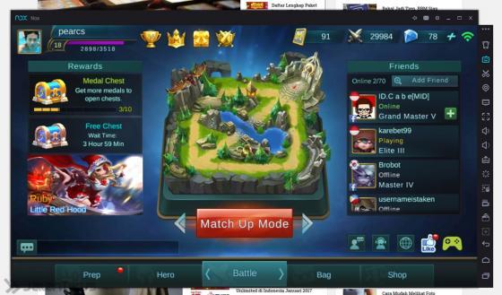 Cara Bermain Mobile Legends Di PC Dafunda 2