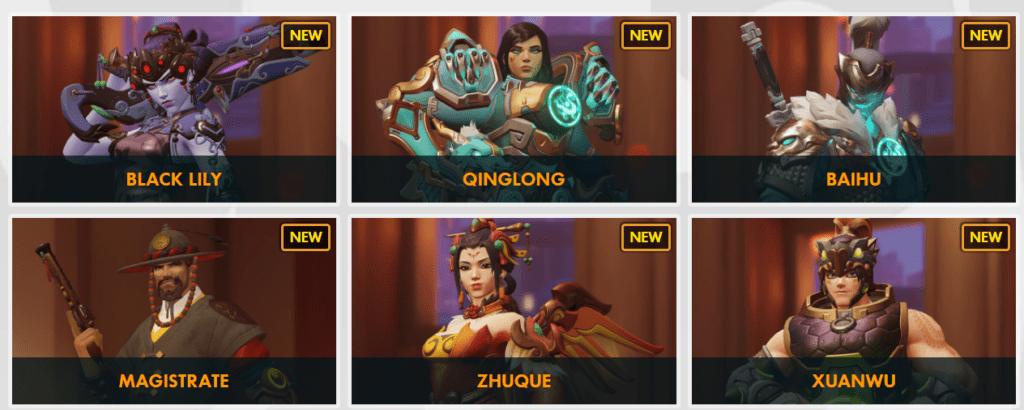 Skin Tahun Baru China Overwatch