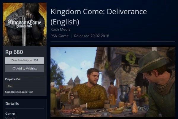 Bug Kingdom Come : Deliverance Ps4