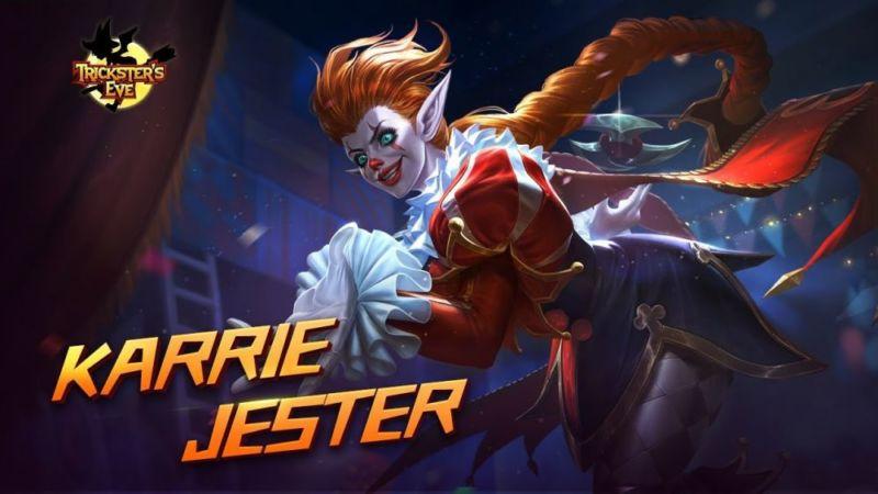Super Keren, Inilah Penampakan Skin Hallowen Baru Hero Karie, Jester! Siap Untuk Membeli Gamedaim