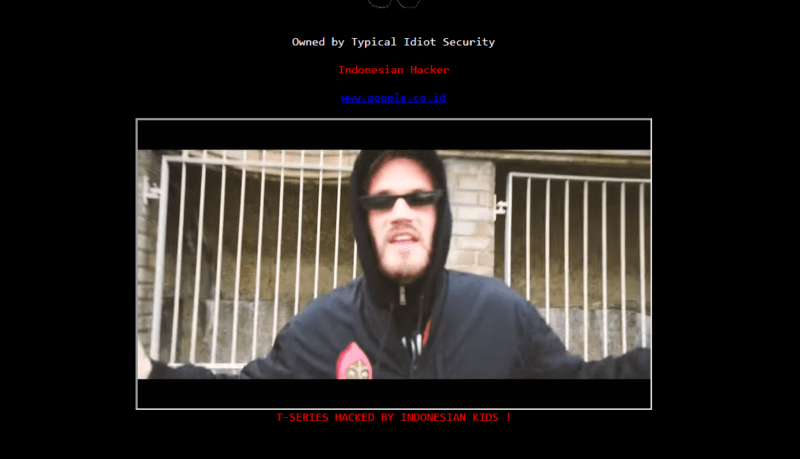 Website T Series Diretas Oleh Hacker, Pasang Backsound Diss Track Pewdiepie! Dafunda