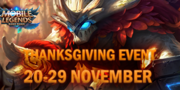 Buruan, Mobile Legends Mengadakan Event Thanksgiving Yang Berhadiah 20 Smartphone dan Skin Legends!