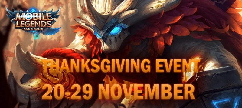 Buruan, Mobile Legends Mengadakan Event Thanksgiving Yang Berhadiah 20 Smartphone dan Skin Legends!