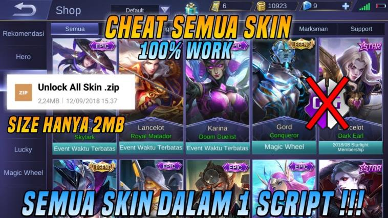 Beginilah Cara Dapatkan Semua Skin Epic Mobile Legends Gratis Terbaru 2019! Gamediam
