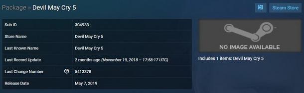 Devil May Cry 5 Versi PC Tidak Akan Rilis Bulan Maret, Lalu Kapan Steamdb 2