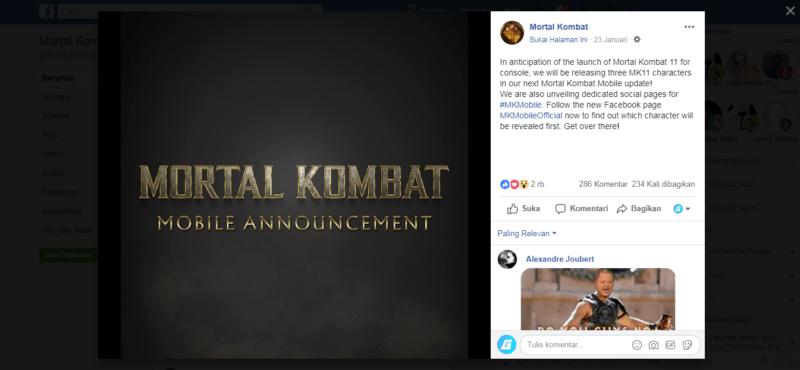 Mantap, Karakter Mortal Kombat 11 Dipastikan Hadir Di Mortal Kombat X Mobile!
