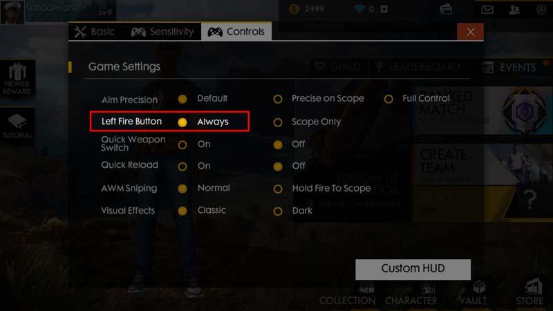 Beginilah Cara Setting HUB Custom Terbaik Di Free Fire! Kontrol