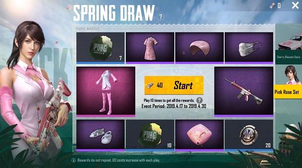 Ragam Hadiah, PUBG Mobile Resmi Hadirkan Event Spesial Spring! Spring Draw