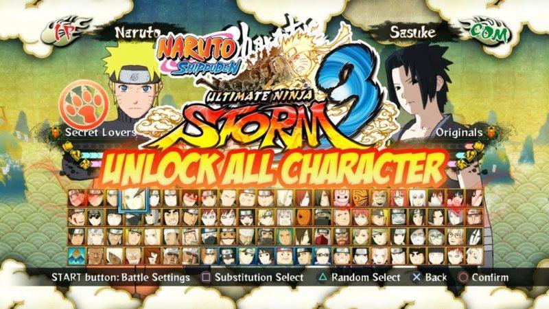 Cheat Naruto Shippuden Ultimate Ninja Storm 3 PS3 Lengkap Bahasa Indonesia