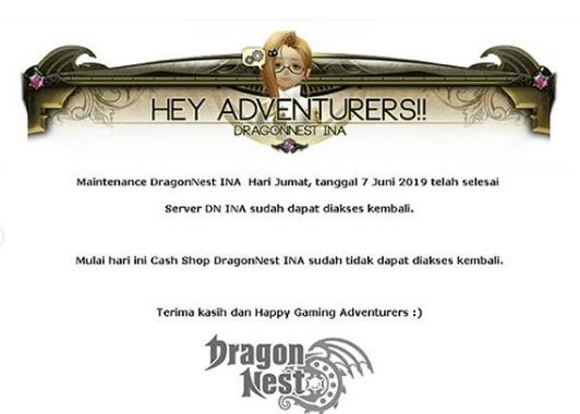 Dragon Nest Ina Bakal Tutup Apakah Itu Benar Gamedaim Com