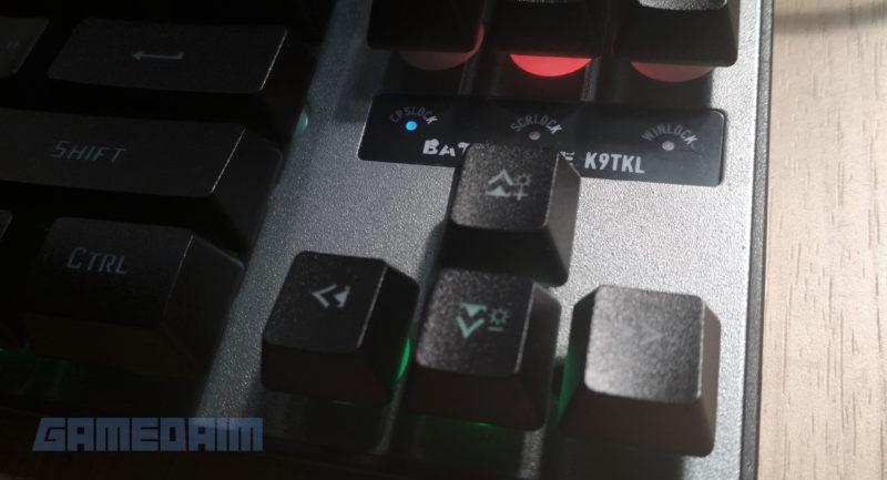 Gamedaim Review Rexus K9TKL Keyboard Arrow