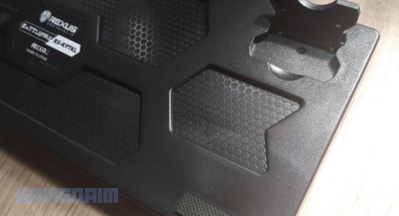 Gamedaim Review Rexus K9TKL Keyboard Back