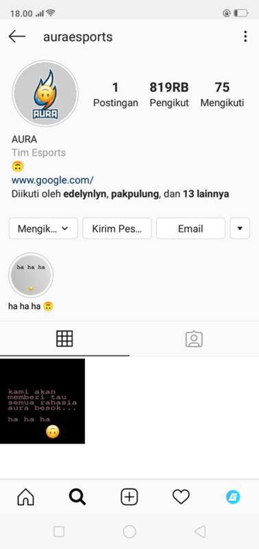 Kena Hack Akun Instagram Aura Esports Hapus Semua Postingannya