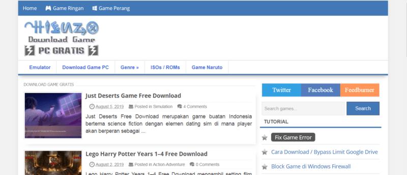 7 Rekomendasi Situs Download Game PC Bajakan Gratis Terbaik! Hienzo