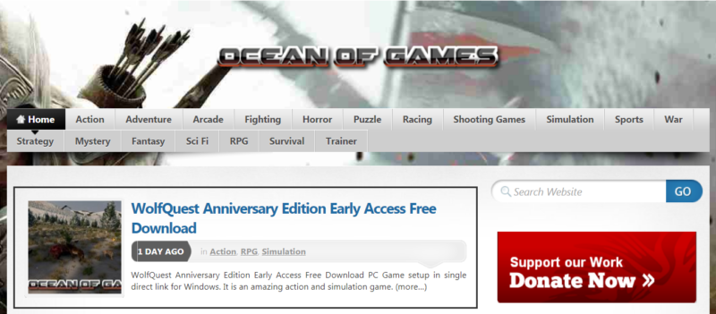 7 Rekomendasi Situs Download Game PC Bajakan Gratis Terbaik! Ocean Of Games