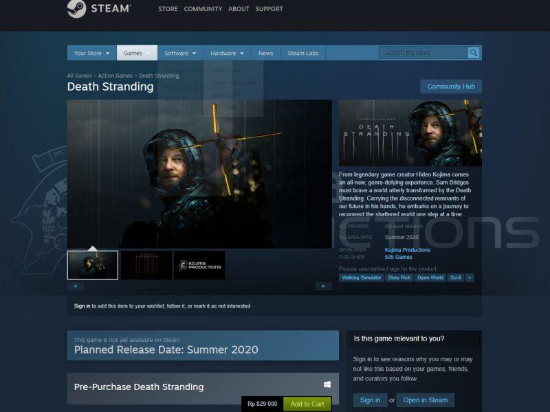 DEath Stranding Steam