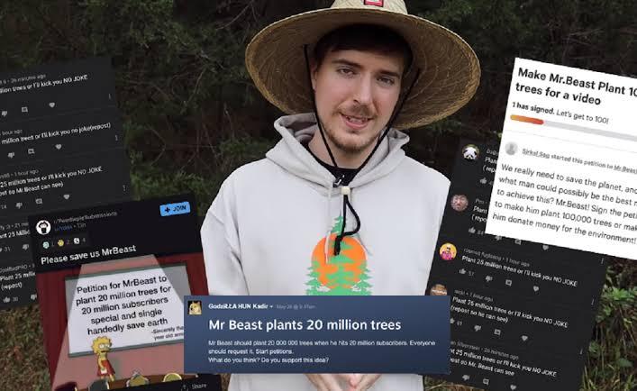 PewDiePie Sumbang 69 Ribu Pohon Di Penggalangan Dana Yang Dilakukan Mr Beast