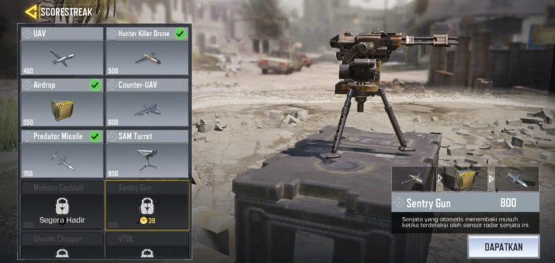 5 Scorestreak Terbaik Di Call Of Duty Mobile Sentry Gun