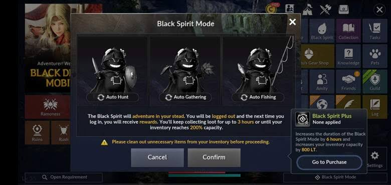 Tips Dasar Bermain Black Desert Mobile Black Spirit