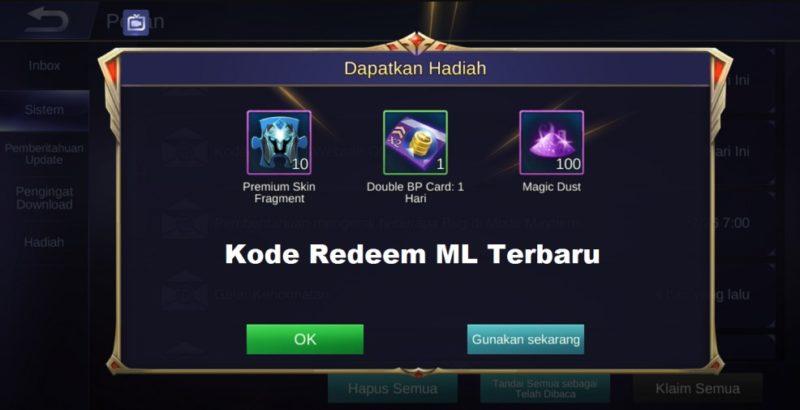 Begini Cara Tukar Kode Redeem Mobile Legends Terbaru! Gamedaim
