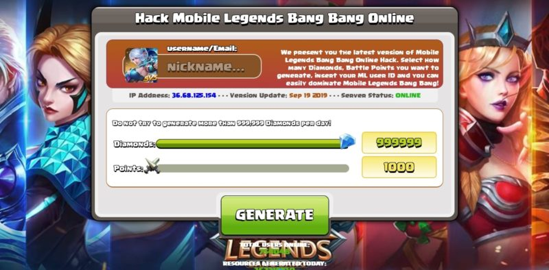 6 Generator Diamond Mobile Legends Gratis Terbaik Auto Sultan 2