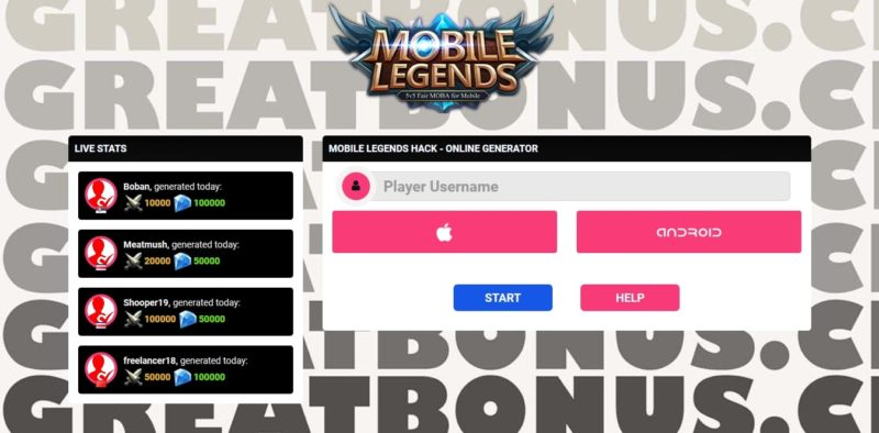 6 Generator Diamond Mobile Legends Gratis Terbaik Auto Sultan 3