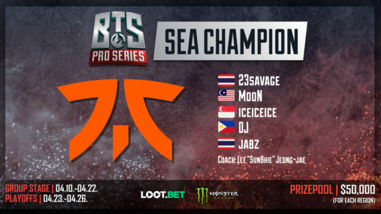 Fnatic Winner Bts Pro Series Sea