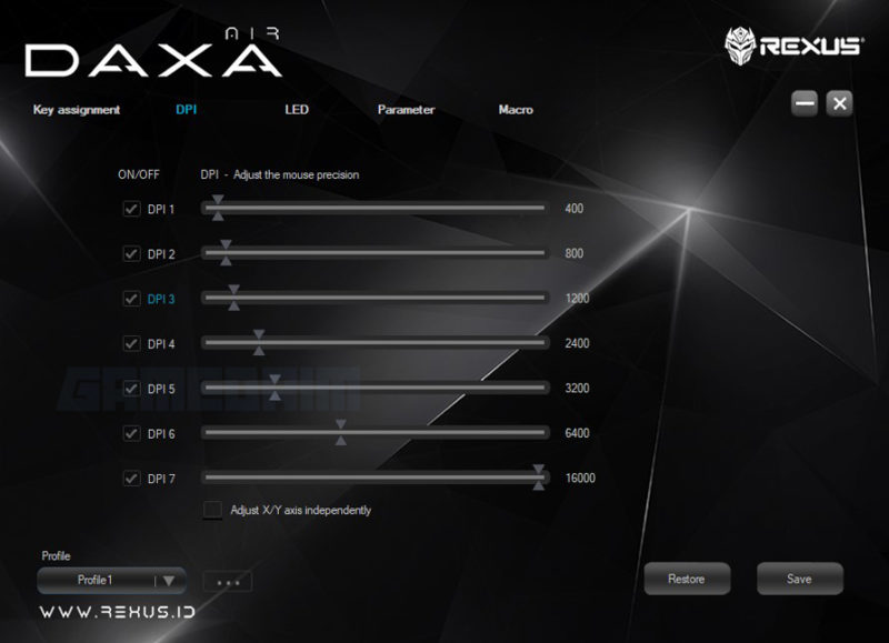 Software Dpi Daxa Air Gamedaim Review
