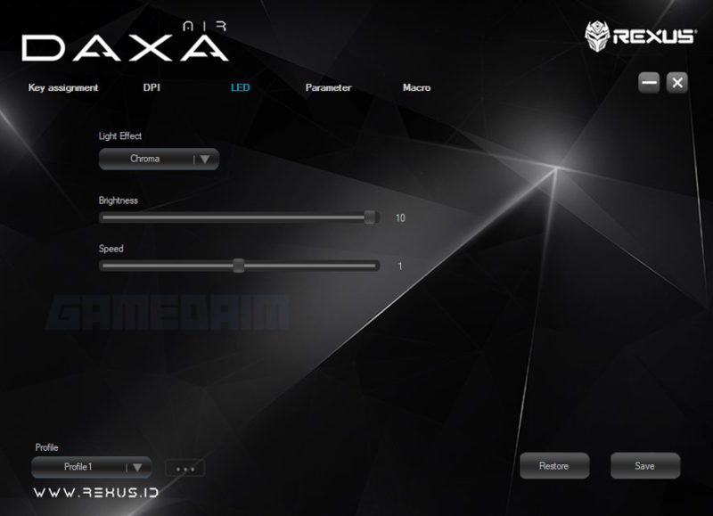 Software Led Daxa Air Gamedaim Review
