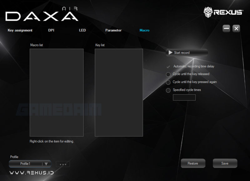 Software Macror Daxa Air Gamedaim Review