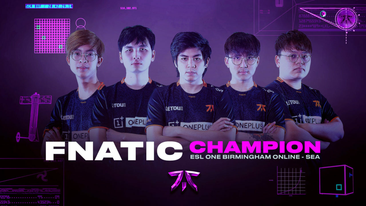 Fnatic Champs Esl One Birmingham Sea