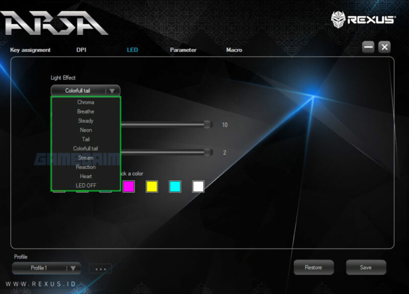 Rexus Arsa Software Led Gamedaim Review