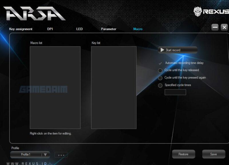Rexus Arsa Software Macro Gamedaim Review