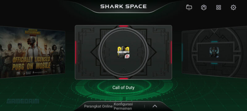 Konfigurasi Shark Space Melalui Tombol Black Shark 3 Gamedaim