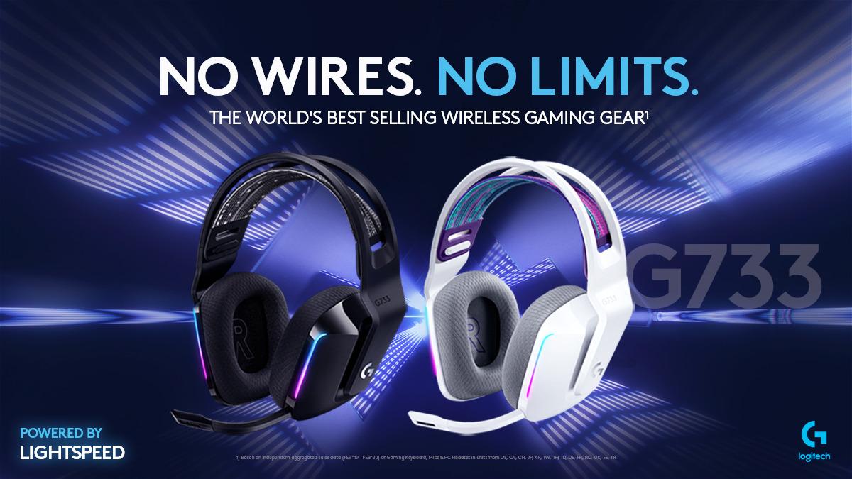 Logitech G733 Wireless Headset Gaming