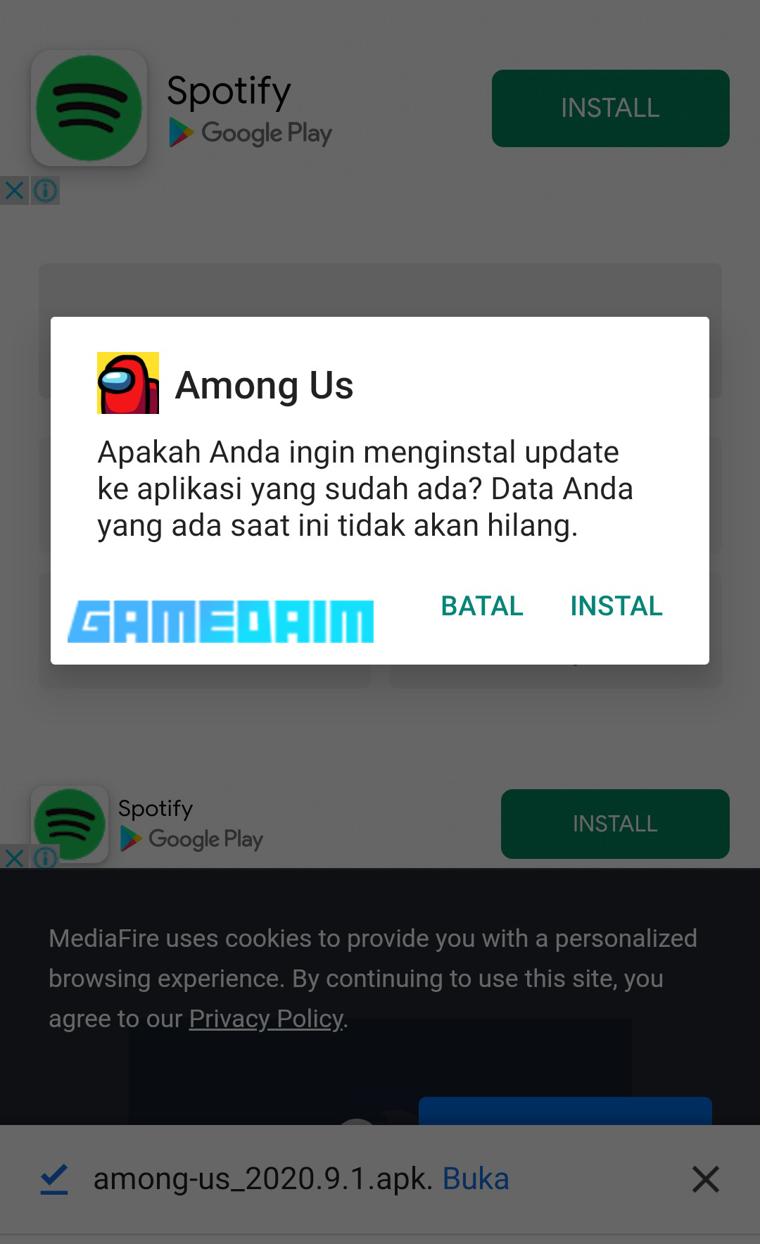 Cara Cheat Among Us Terbaru 2020! Install
