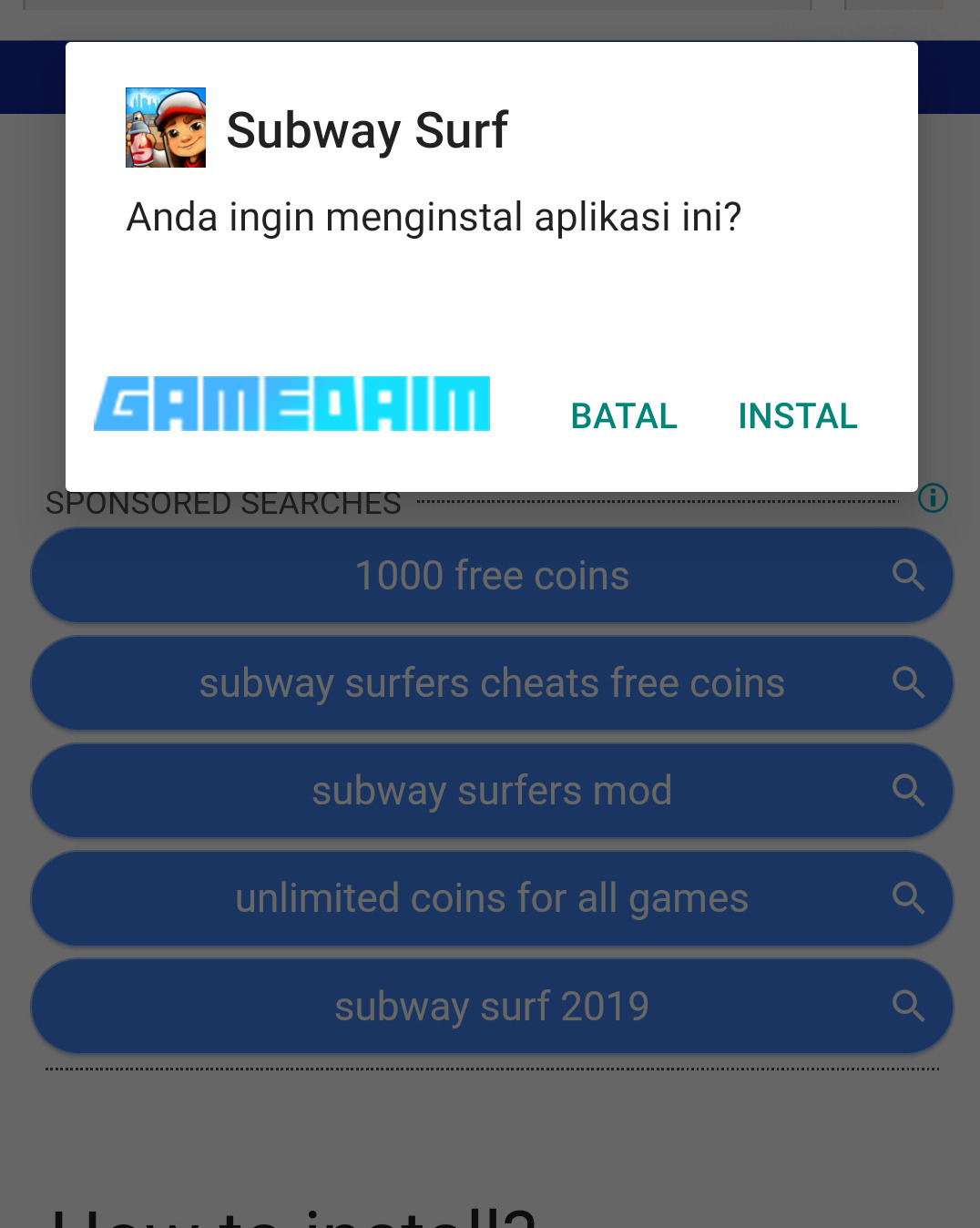 Cheat Subway Surfers Terbaru 2020! Install