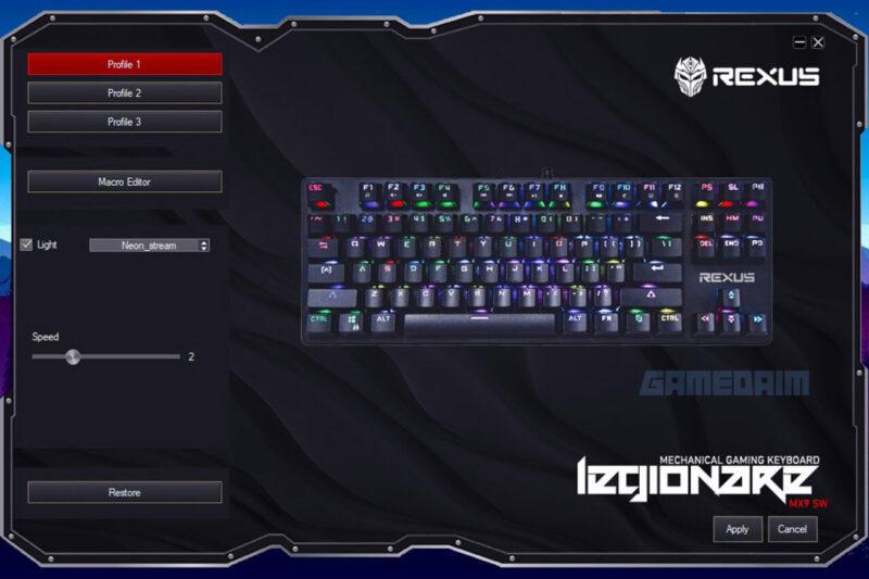 Rexus Legionare Mx9 Software Gamedaim Review